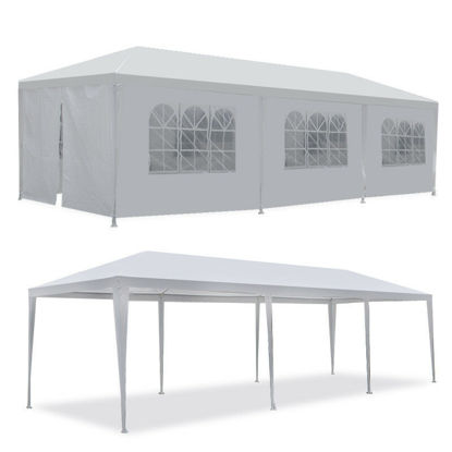 Picture of Outdoor Party Tent 10' x 30' with 8 Walls - White