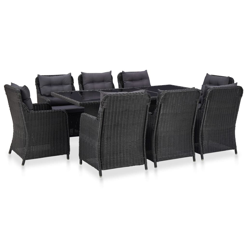 Picture of Outdoor Dining Set - Black 9 pc