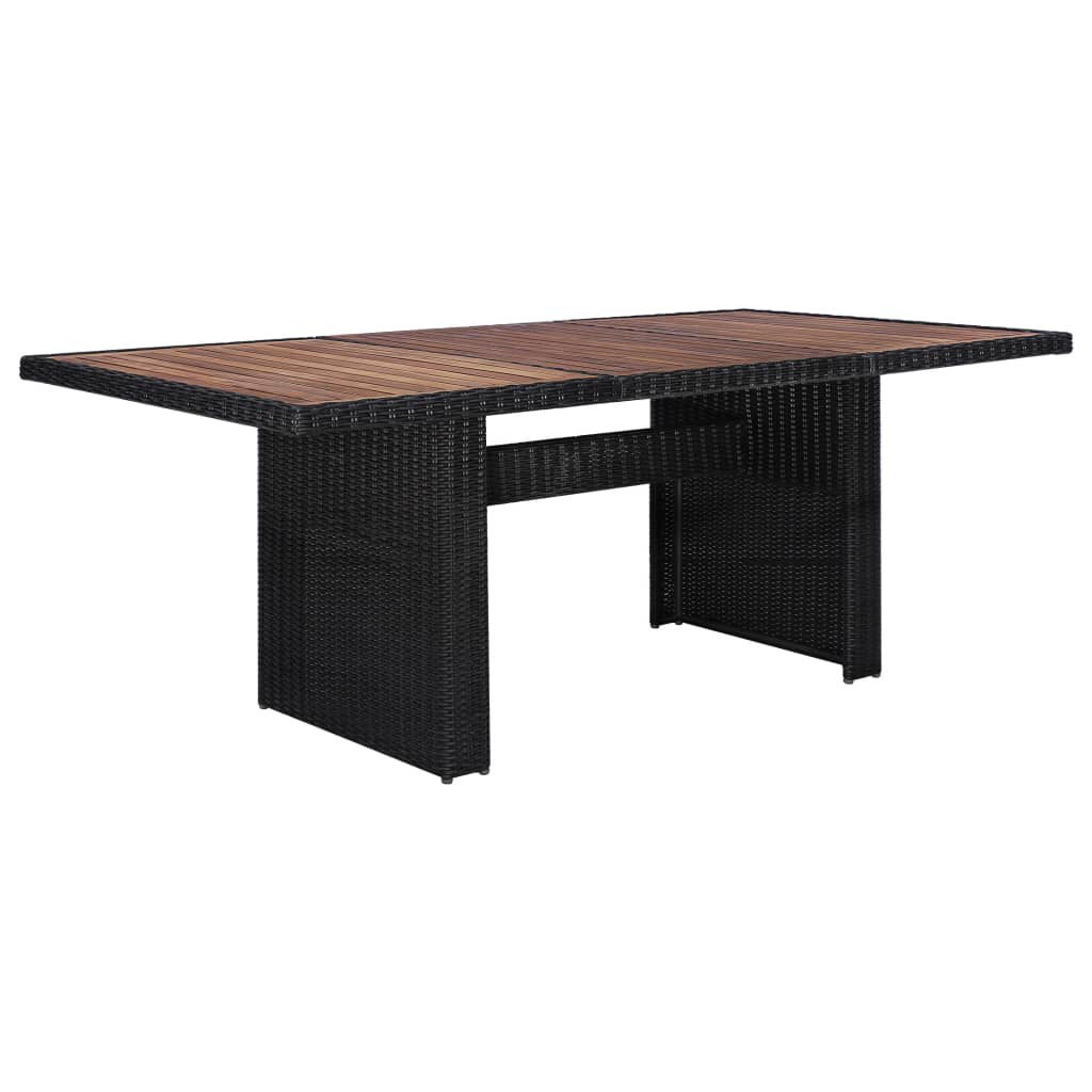 Picture of Outdoor Dining Set - Black 9 Piece