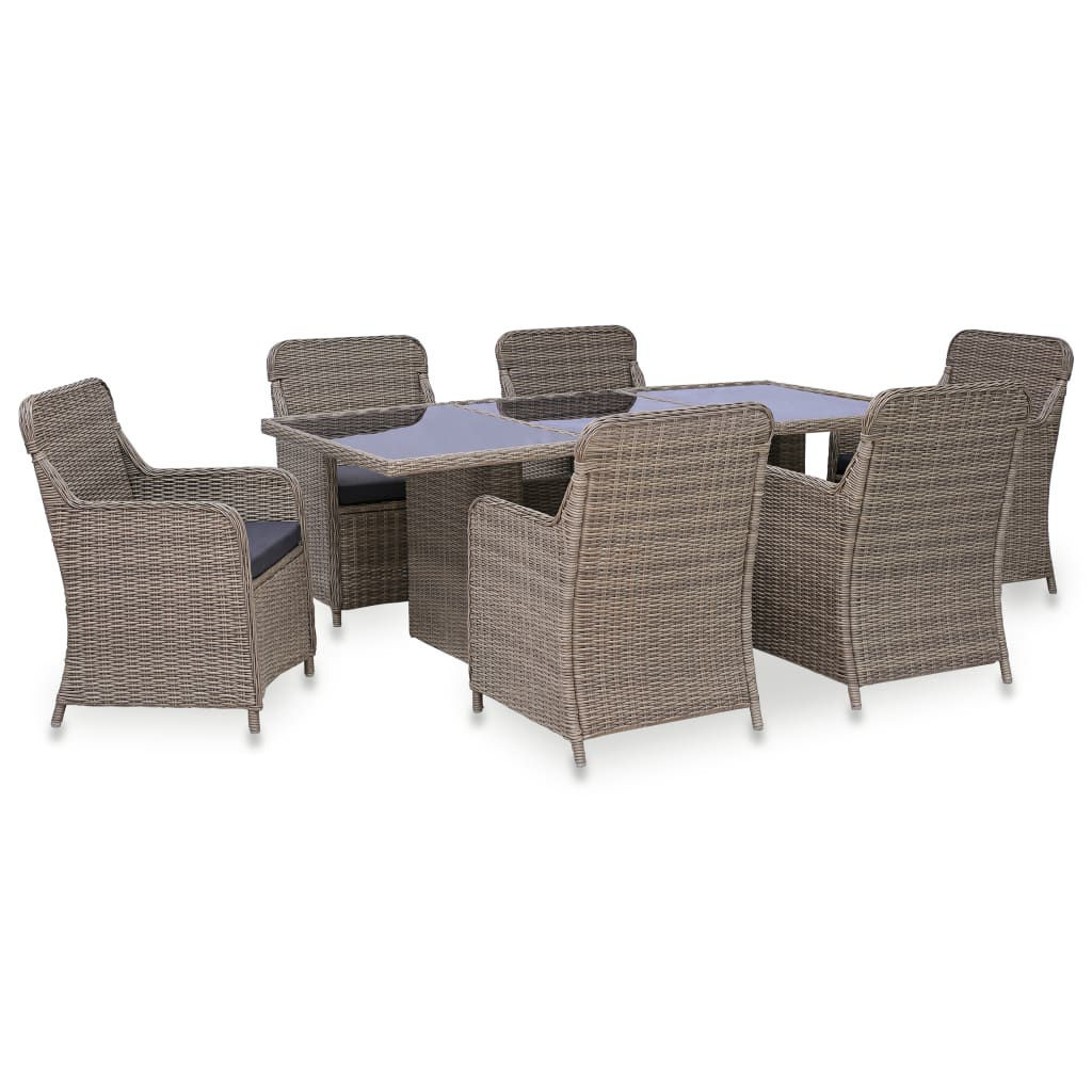 Picture of Outdoor Dining Set - Brown 7 pc