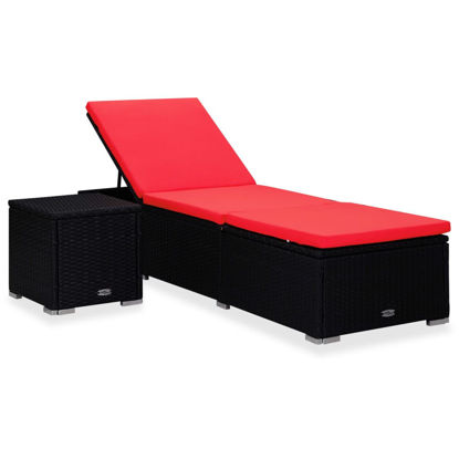 Picture of Outdoor Lounger and Table - Red