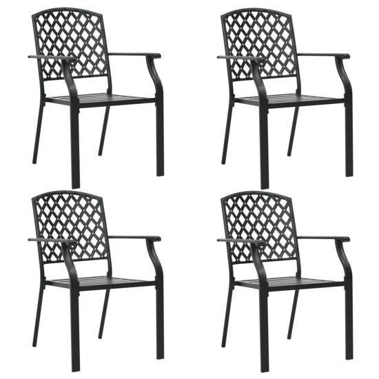 Picture of Outdoor Chairs Mesh - Black 4 pc