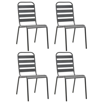 Picture of Outdoor Chairs - Dark Gray 4 pc