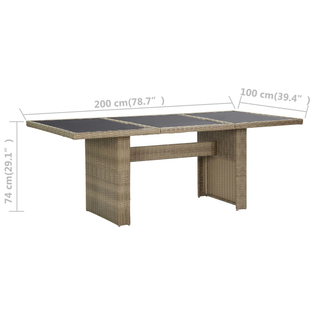 """Picture of Patio Dining Table 78"""" - Brown"""