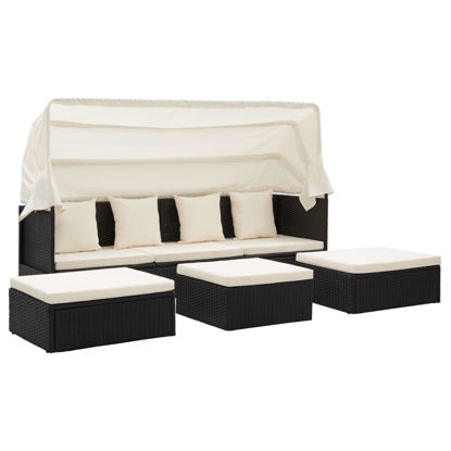 Picture of Outdoor Lounge Bed Black