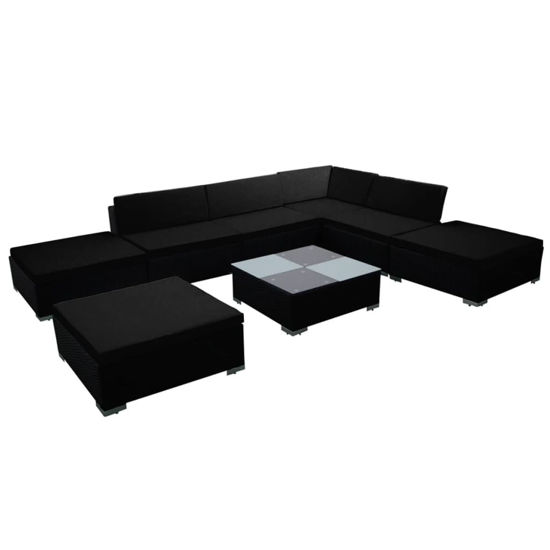 Picture of Outdoor Furniture Set - Black 8 pc