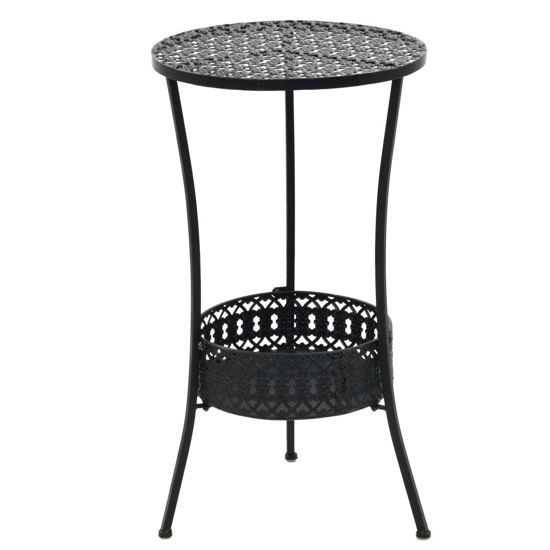 """Picture of Outdoor Bistro Table Black 15"""""""