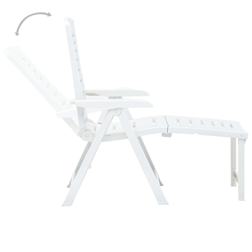 Picture of Patio Folding Lounger - White
