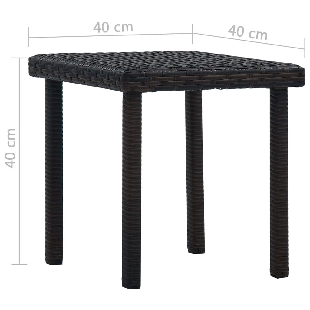 """Picture of Patio Tea Table 15"""" - Brown"""