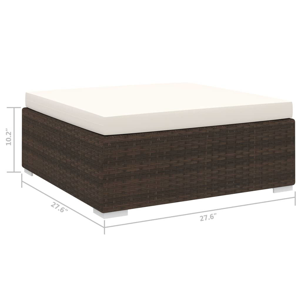 Picture of Outdoor Sectional Footrest - Brown
