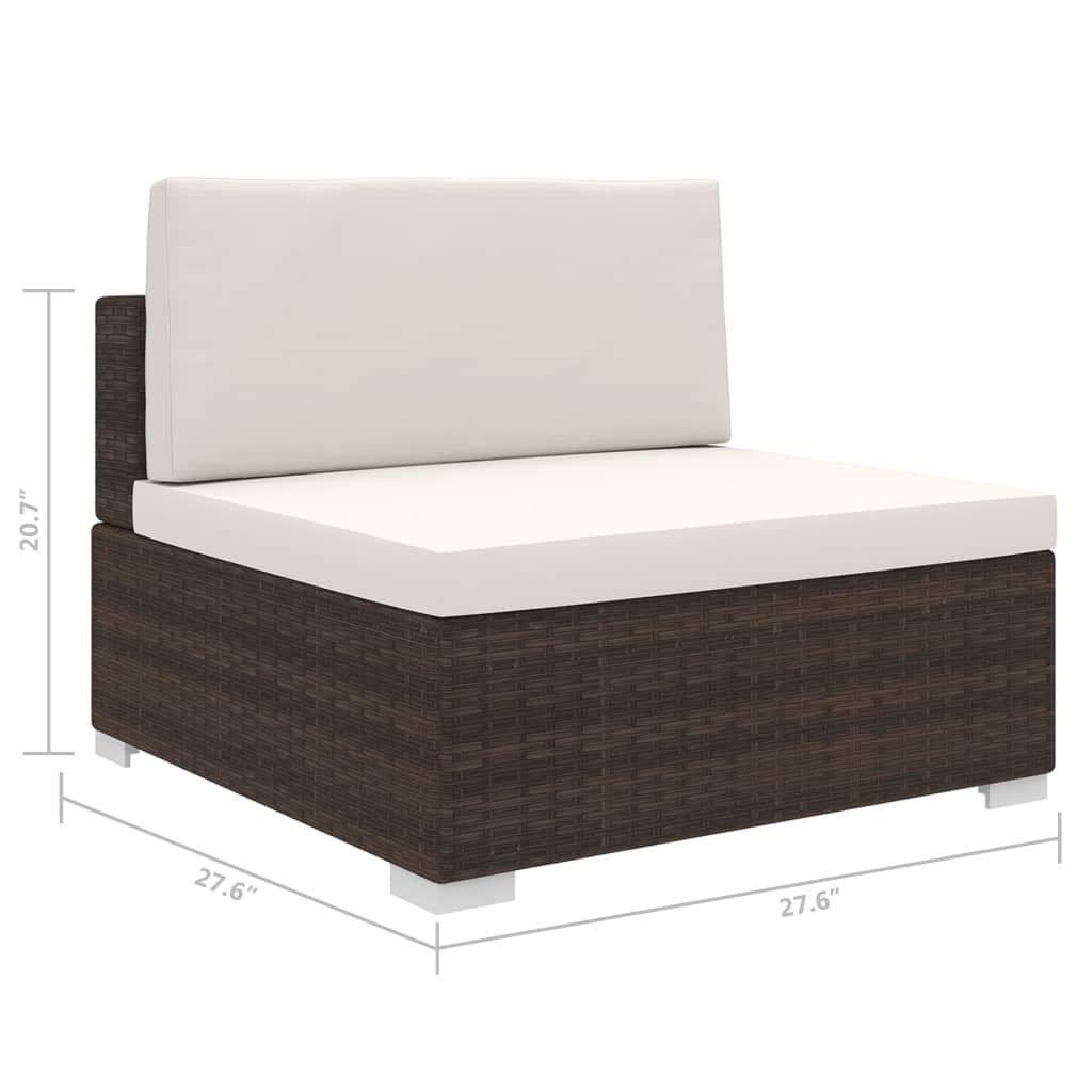 Picture of Outdoor Sectional Middle Seat - Brown