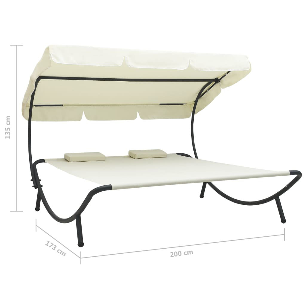 Picture of Outdoor SunBed - Cream White
