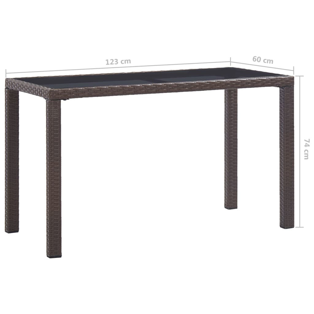 "Picture of Outdoor Patio Table - 48"" Brown"