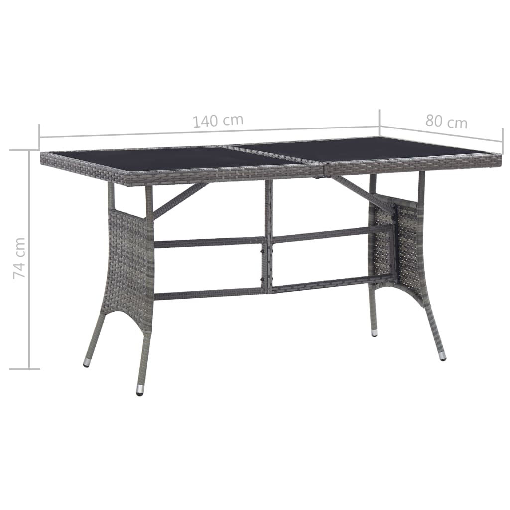 """Picture of Outdoor Table 55"""" Gray"""