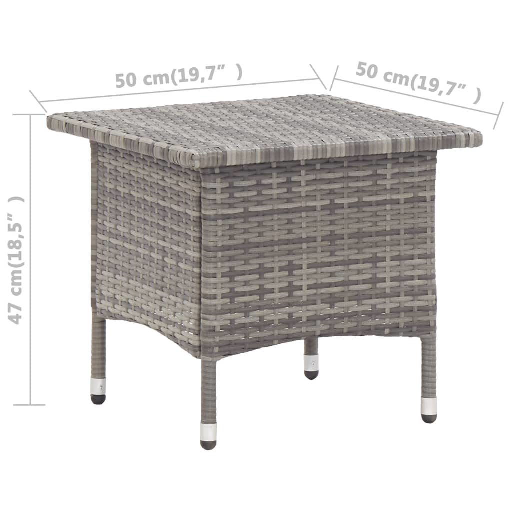 """Picture of Outdoor Tea Table 19"""" Gray"""