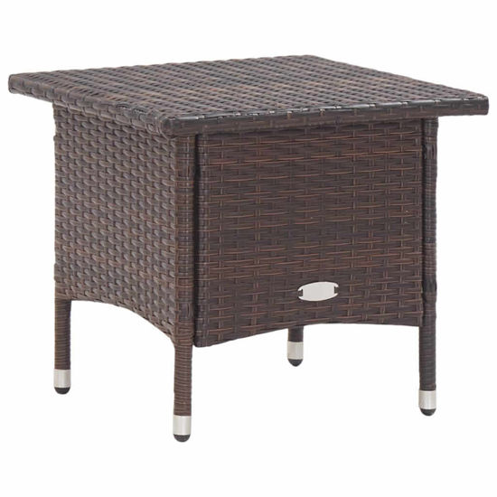 """Picture of Outdoor Tea Table 19"""" Brown"""
