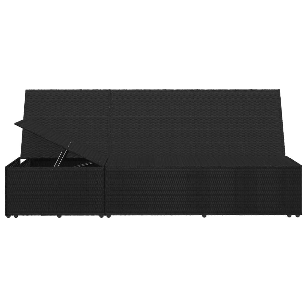 Picture of Outdoor Convertible SunBed - Black