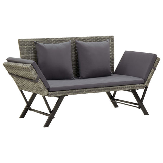 """Picture of Outdoor Bench 69"""" - Gray"""