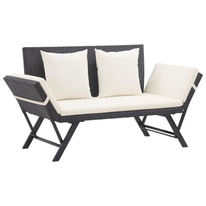"Picture of Outdoor Bench 69"" - Black"