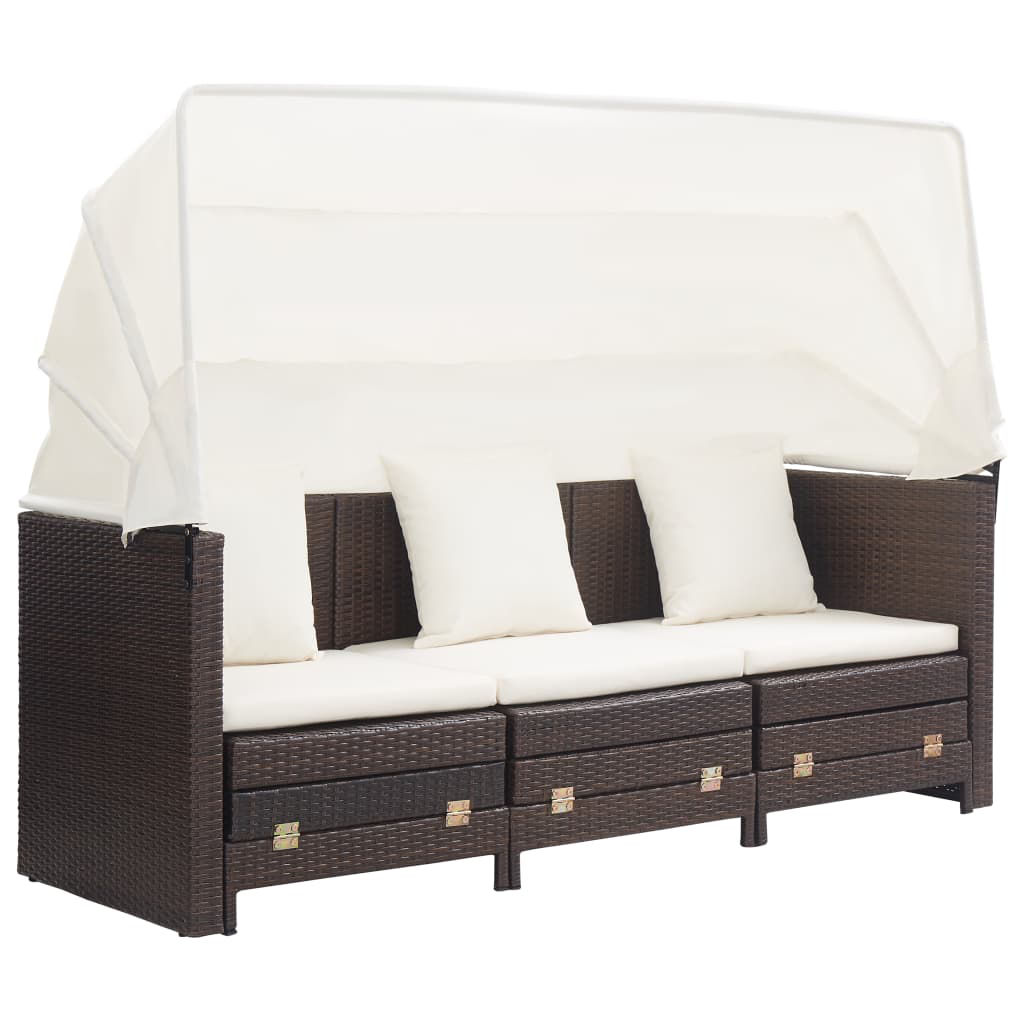 Picture of Outdoor 3-Seater SunBed - Brown