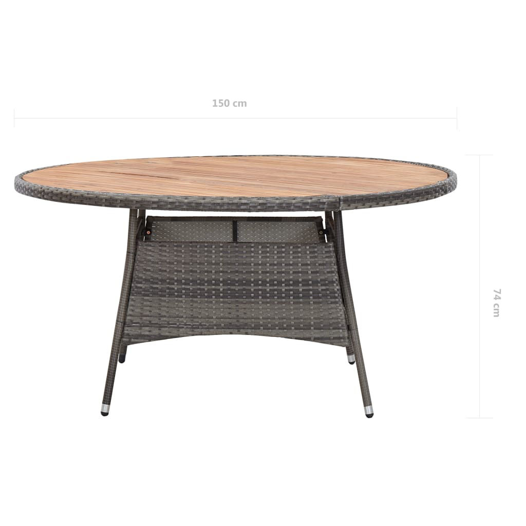 """Picture of Outdoor Table - 59"""" Gray"""