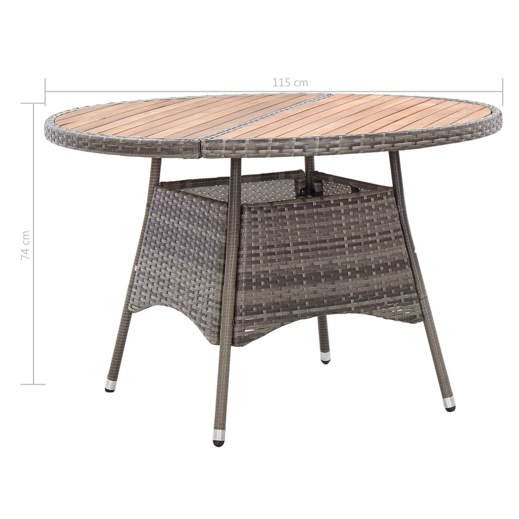 """Picture of Outdoor Table - 45"""" Gray"""