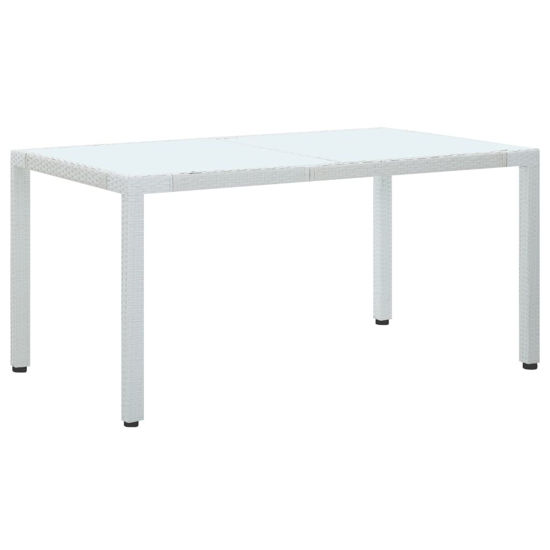 """Picture of Outdoor Patio Table - 59"""" White"""