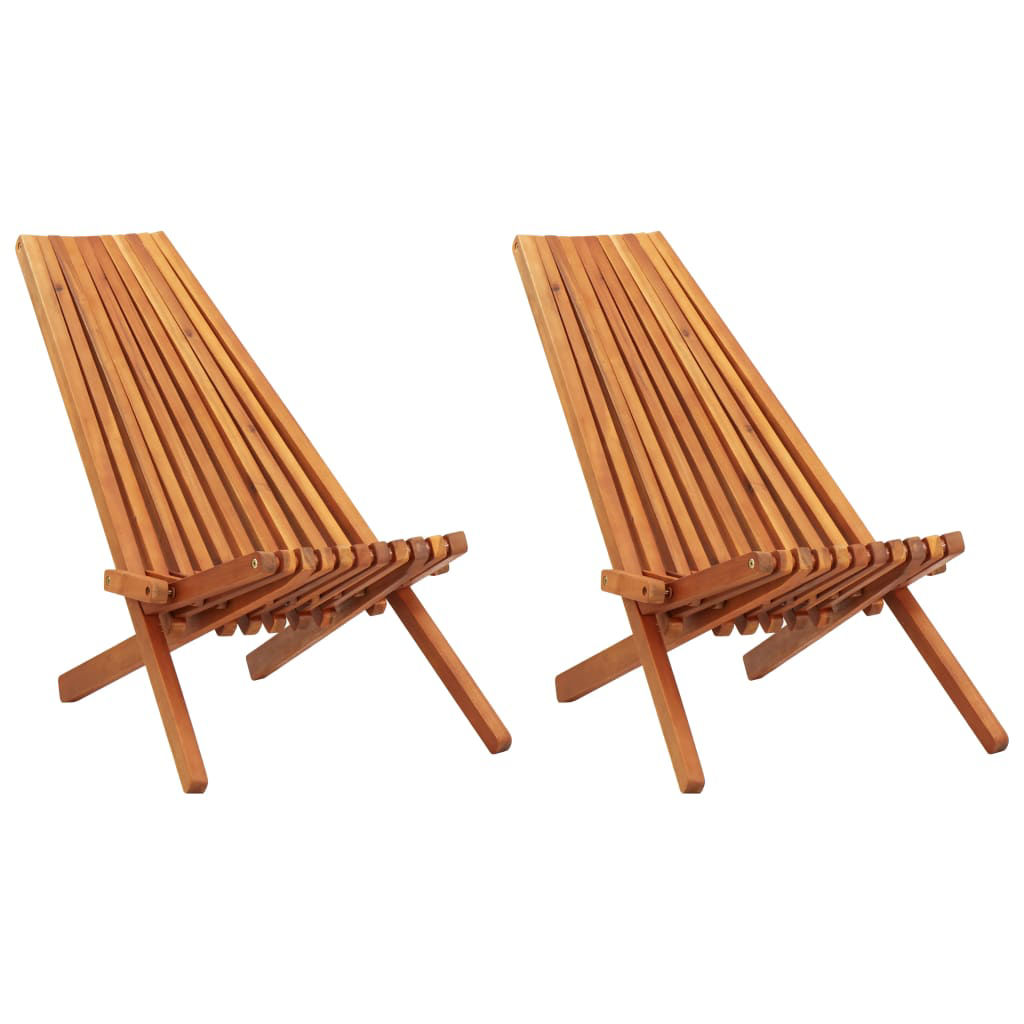 Picture of Outdoor Folding Lounge Chairs 2 pcs