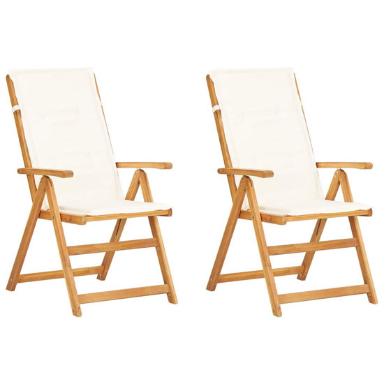 Picture of Outdoor Reclining Chairs - 2 pcs Brown