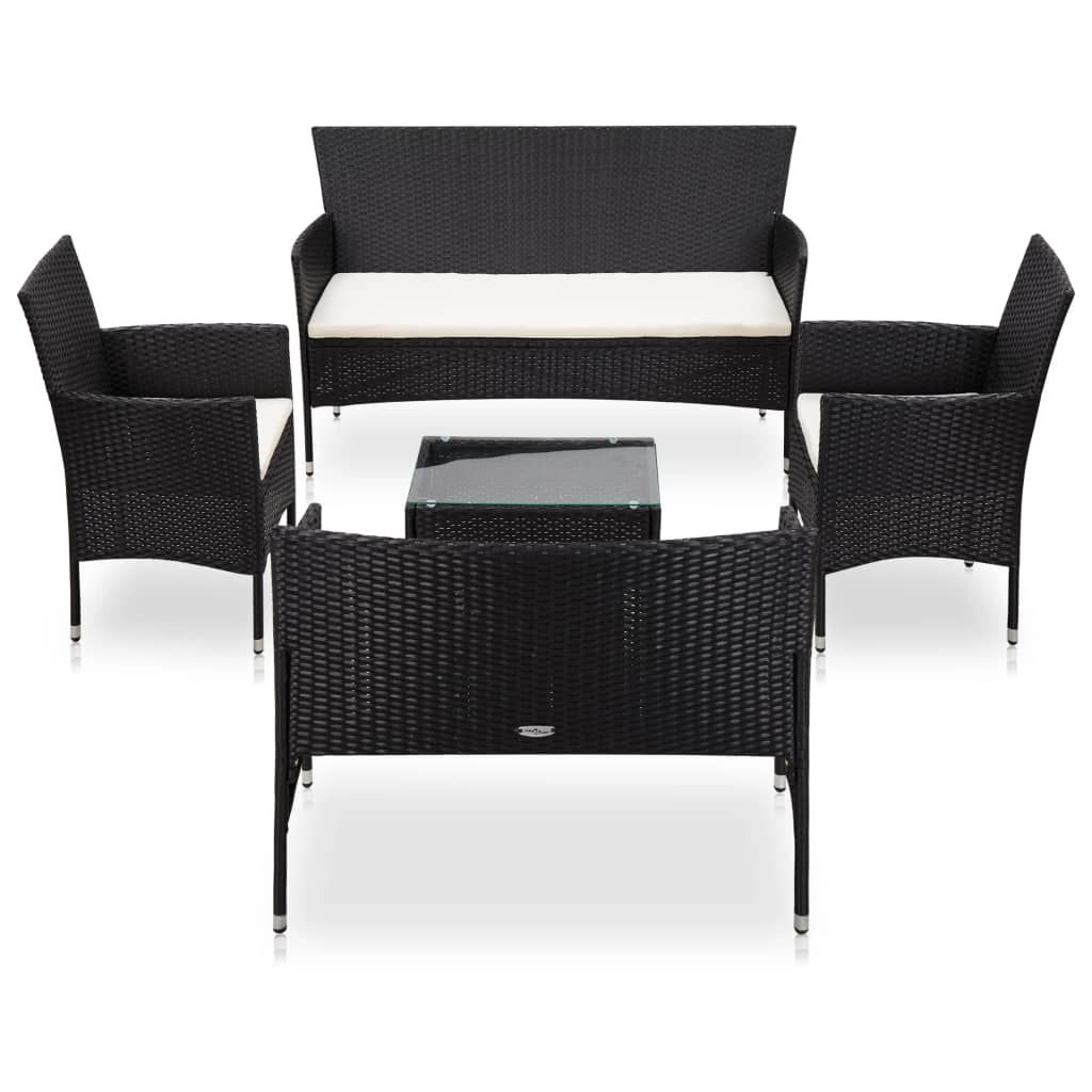 Picture of Outdoor Furniture Lounger Set - Black