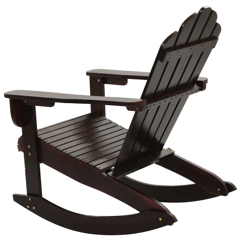 Picture of Outdoor Patio Rocking Chair - Brown