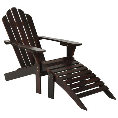 Picture of Outdoor Chair with Ottoman - Brown
