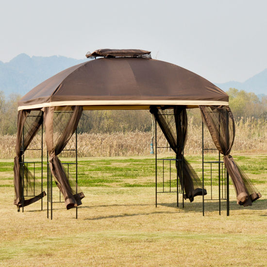 "Picture of Outdoor 10'x10"" Gazebo - Brown"