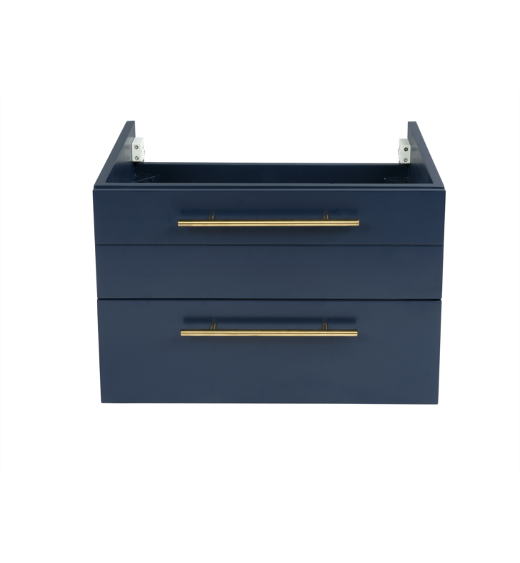 """Picture of Lucera 24"""" Royal Blue Wall Hung Undermount Sink Modern Bathroom Cabinet"""