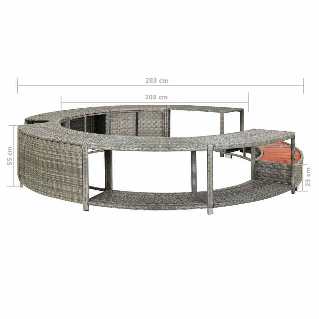 Picture of Outdoor Hot Tub Surround - Gray