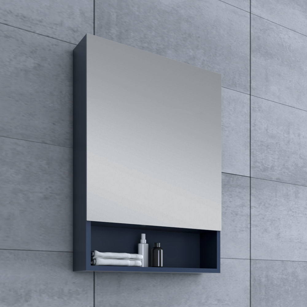 "Picture of 24"" Royal Blue Bathroom Medicine Cabinet w/ Small Bottom Shelf"