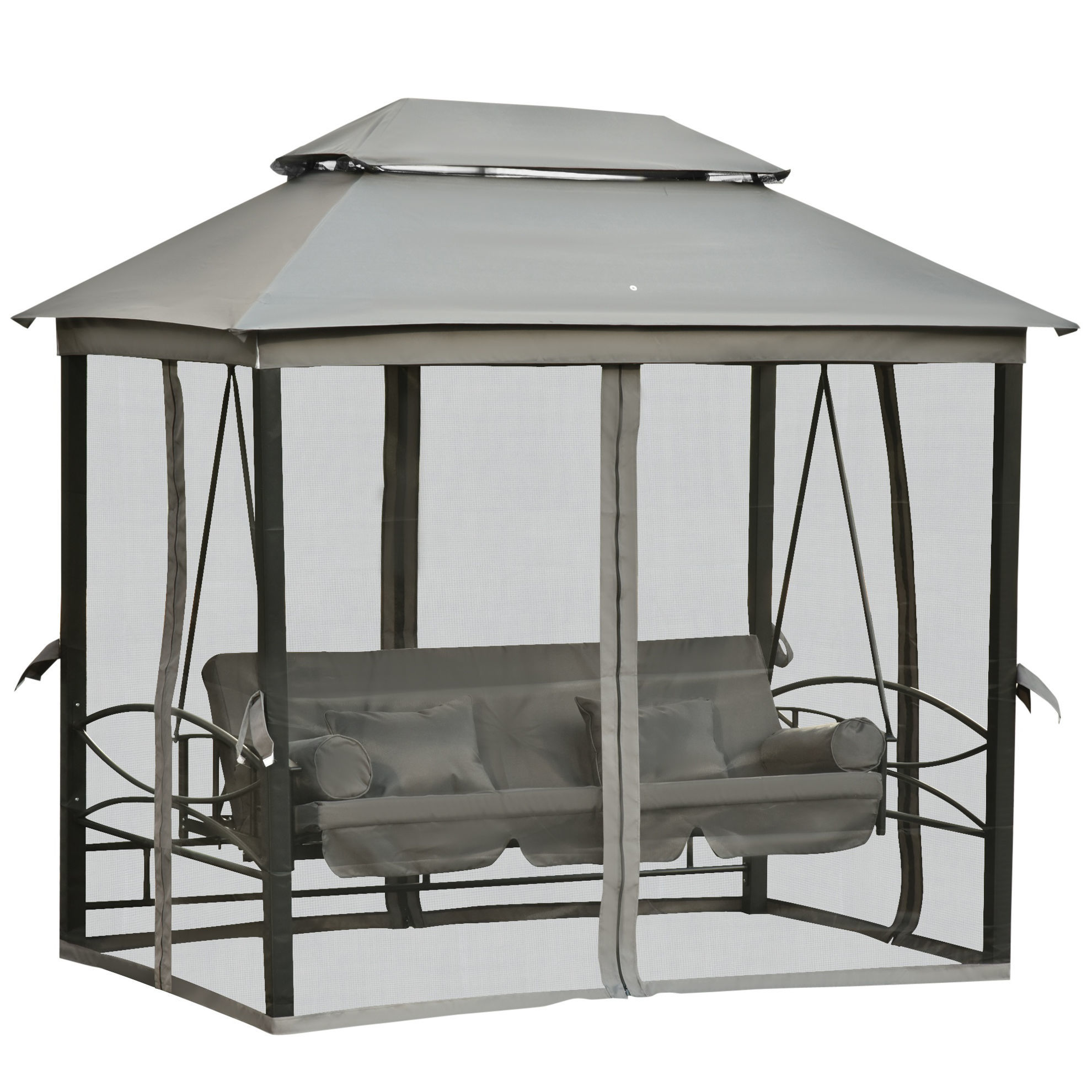 Picture of Outdoor Daybed Swing - Gray