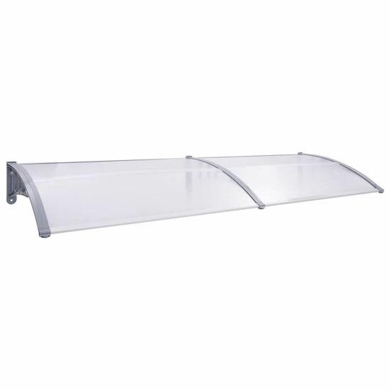 """Picture of Outdoor Door Canopy 94"""" - Gray Transparent"""