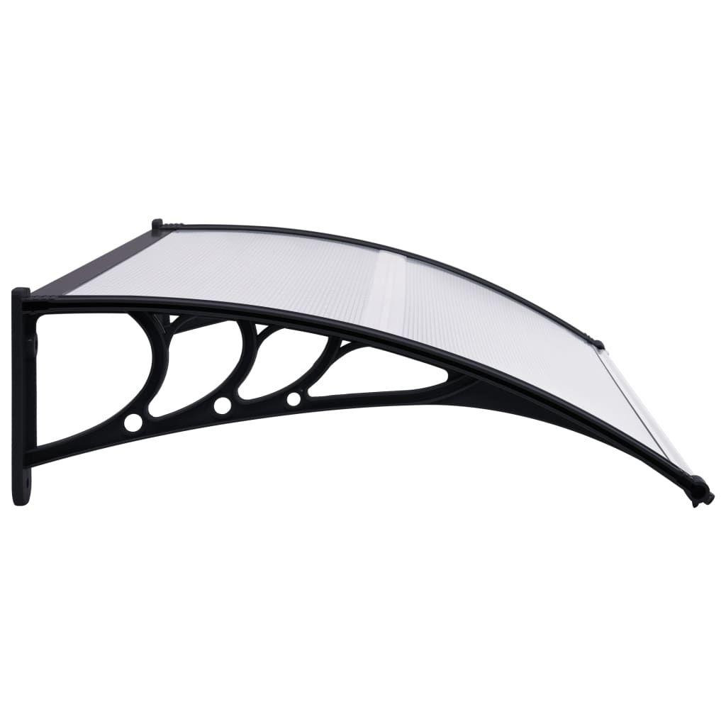 """Picture of Outdoor Door Canopy 47"""" - Black Transparent"""