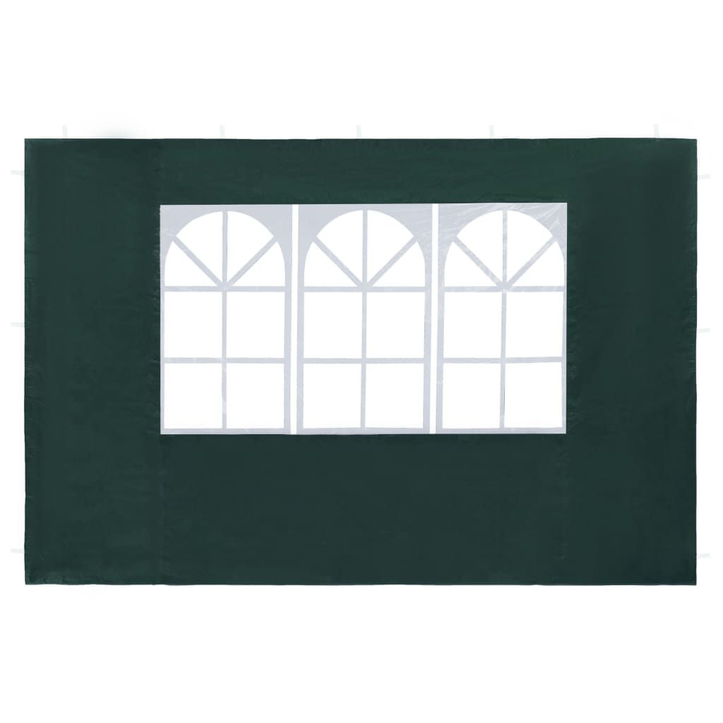 Picture of Outdoor Tent Sidewalls with Window - 2 pc Green