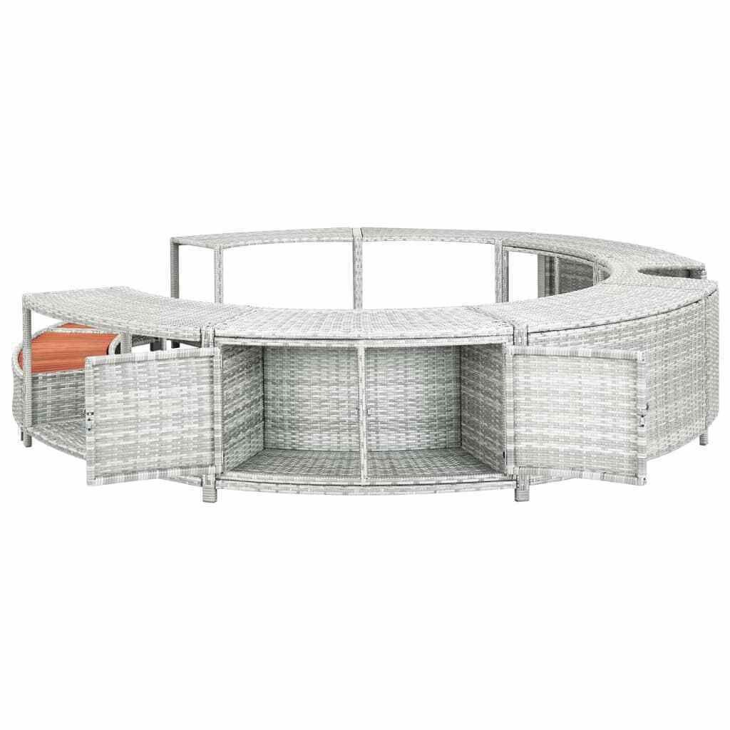 Picture of Outdoor Hot Tub Surround - Light Gray