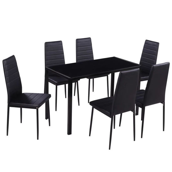 Picture of Kitchen Dining Set - 7 pc Black