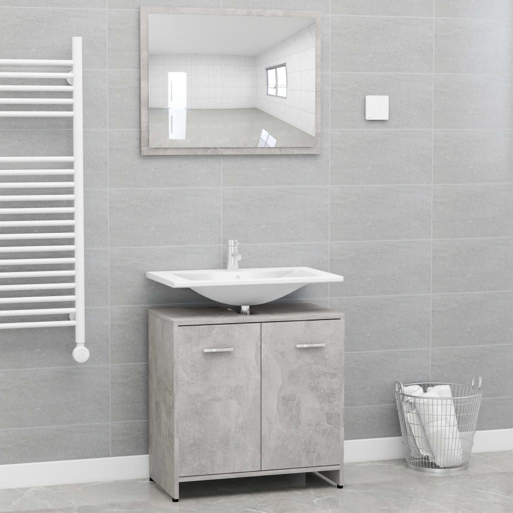"""Picture of 23"""" Bathroom Furniture Set with Mirror - Concrete Gray"""
