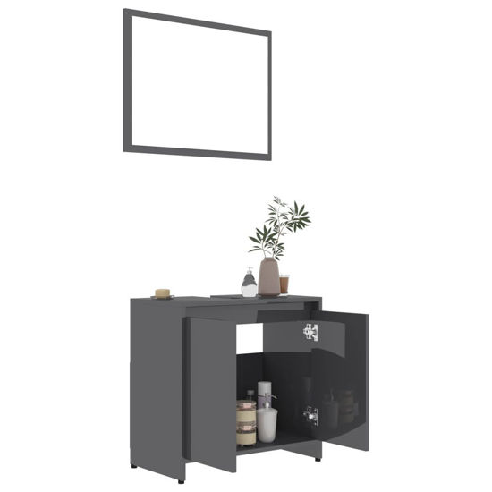 """Picture of 23"""" Bathroom Furniture Set with Mirror - Gray"""