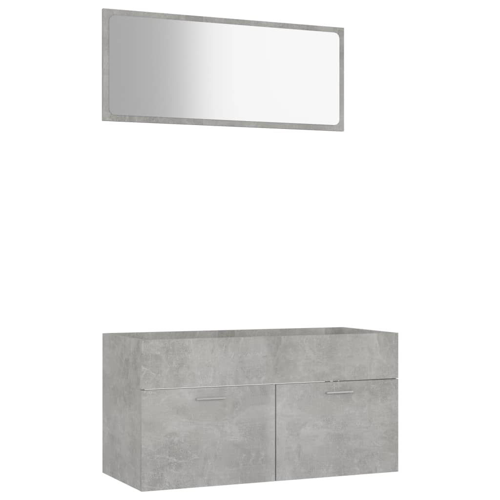 """Picture of 35"""" Bathroom Furniture Set with Mirror - Concrete Gray"""
