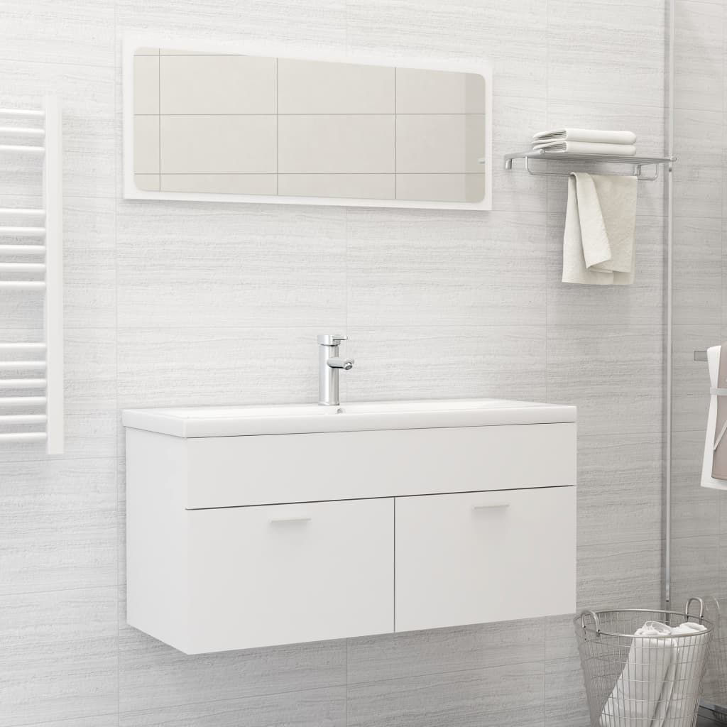 """Picture of 39"""" Bathroom Furniture Set with Mirror - White"""