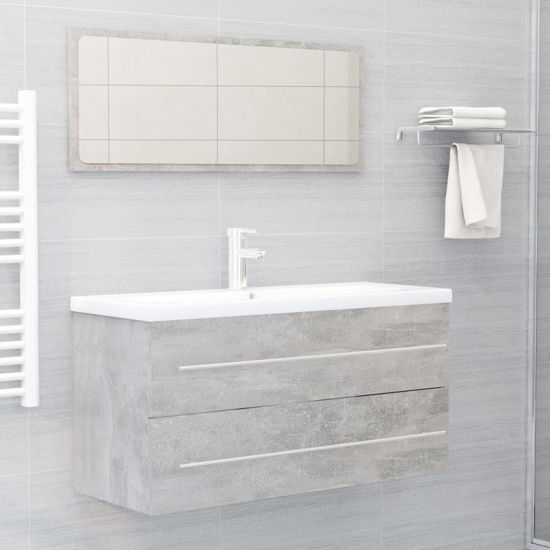 """Picture of 39"""" Bathroom Furniture Set with Mirror - Concrete Gray"""