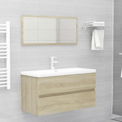 "Picture of 35"" Bathroom Furniture Set with Mirror - Sonoma Oak"