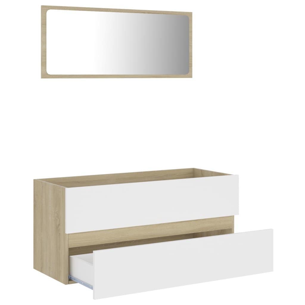 Picture of 39' Bathroom Furniture Set - White and Sonoma Oak