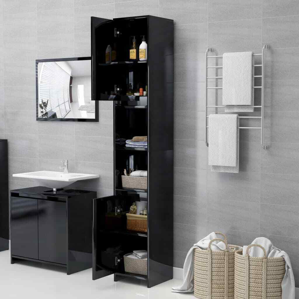 """Picture of 11"""" Bathroom Cabinet - Gloss Black"""